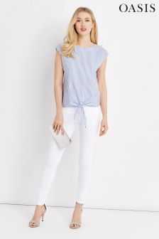Oasis White Stiletto Skinny Jean