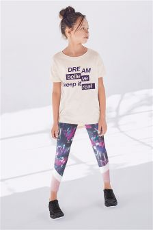 Splice T-Shirt And Leggings Set (3-16yrs)