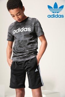 adidas Black 3 Stripe Short