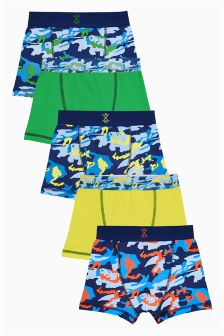 Fluro Camo Trunks Five Pack (2-16yrs)