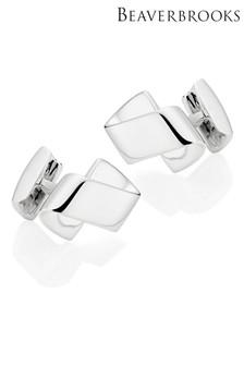 Beaverbrooks Silver Mens Cufflinks
