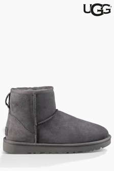 UGG® Grey Suede Classic Mini II Boot