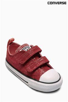 Pink/White Converse Velcro