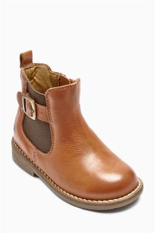 Leather Chelsea Boots (Younger Girls)