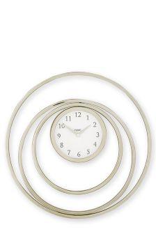 Eternity Chrome Wall Clock