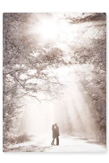 Couple In Forest Clearing canvas