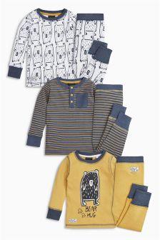Bear Hug Pyjamas Three Pack (9mths-8yrs)