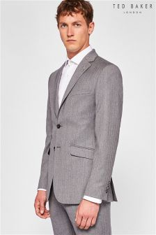 Ted Baker Grey Kerkho J Herringbone Suit Jacket