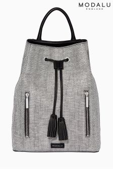 Modalu Black And White Lulu Backpack