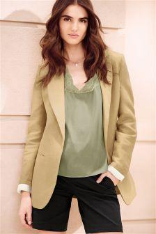 Golden Tan Textured Blazer