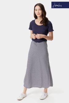 Joules Navy Stripe Cianne Maxi Skirt