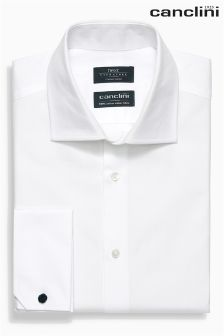 Signature Canclini Herringbone Shirt