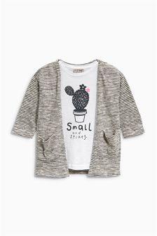 T-Shirt And Cardigan Set (3mths-6yrs)