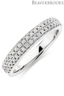 Beaverbrooks 9ct White Gold Diamond Ring