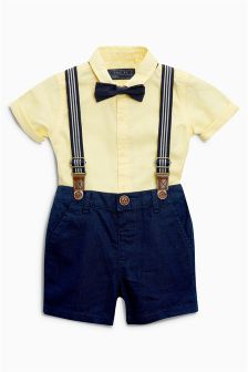 Shirt, Shorts And Bow Tie Set (3mths-6yrs)