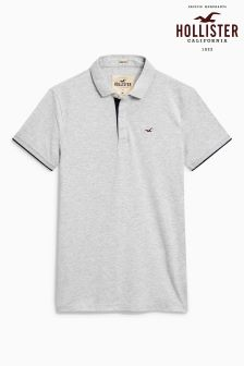 Hollister Grey Logo Polo