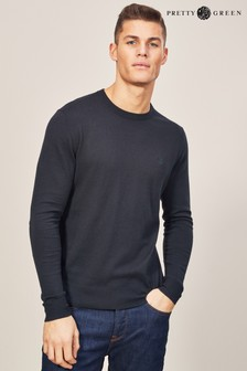 Pretty Green Crew Neck Logo Knit