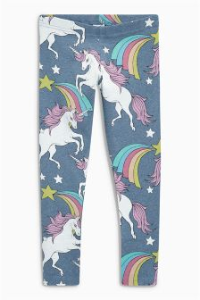Unicorn Print Leggings (3-16yrs)