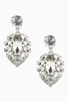 Crystal Effect Jewel Drop Earrings