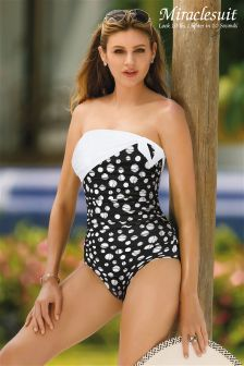 Miraclesuit Sashay Hidden Underwire Bandeau Swimsuit