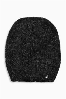 Black Cable Beanie