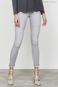 Mint Velvet Lakewood Black Triple Zip Skinny Jean