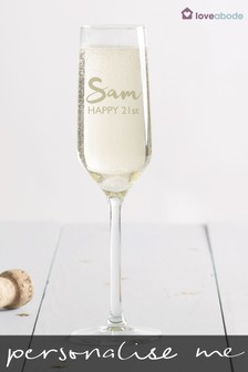 Personalised Champagne Glass By Loveabode