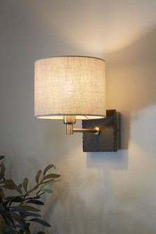 French Slate Pewter Effect  Wall Light