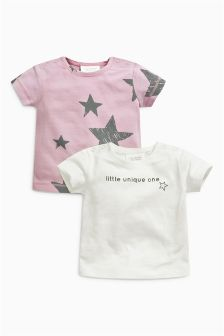 Star T-Shirts Two Pack (0mths-2yrs)