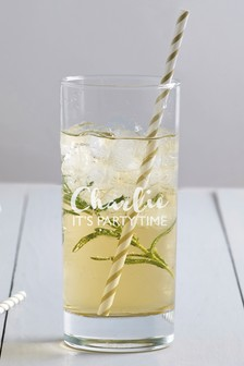 Personalised High Ball Glass By Loveabode