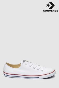 White Converse Dainty Lo