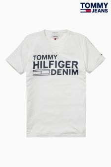 Hilfiger Denim White Basic Graphic T-Shirt