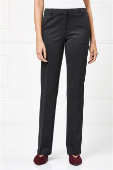 Herringbone Machine Washable Bootcut Trousers