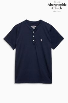 Abercrombie & Fitch Navy Henley T-Shirt