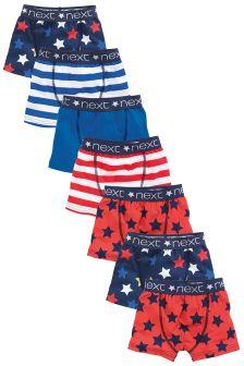 Star Stripe Trunks Seven Pack (2-16yrs)