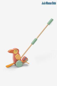 Pink Tropical Floral Print Cushion