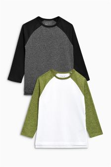 Long Sleeve Raglans Two Pack (3-16yrs)