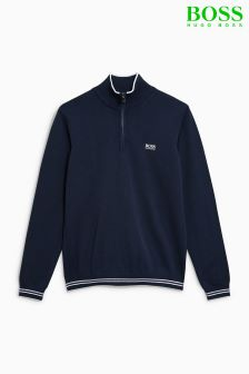 Boss Athleisure Navy Zime 1/4 Zip Jumper