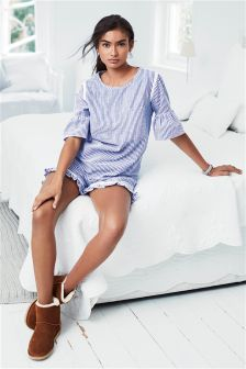 Ruffle Sleeve Pyjama Short Set