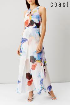 Coast Roca Floral Split Maxi Dress