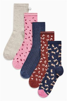Rabbit Ankle Socks Five Pack