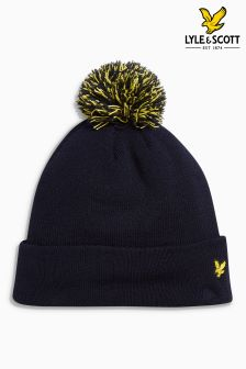 Lyle & Scott Golf Navy Bobble Hat