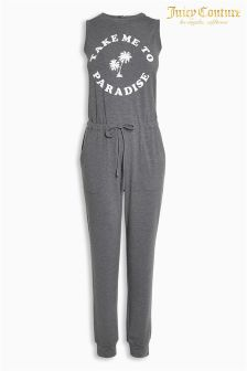 Juicy Couture Grey Graphic Jumpsuit