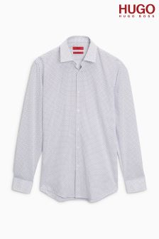 HUGO White Jenno Printed Shirt
