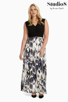 Studio 8 Black/White Federica Maxi Dress