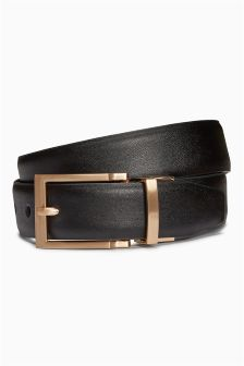 Reversible Belt With Pale Gold Buckle