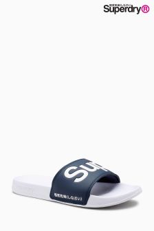 Superdry Navy Pool Sliders