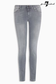 7 For All Mankind The Skinny Slim Illusion Luxe Grey Jean