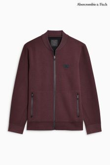 Abercrombie & Fitch Burgundy Baseball Jacket