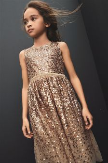 Sequin Embellished Dress (3-16yrs)